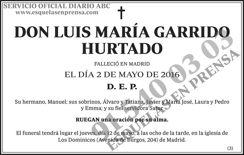 Luis María Garrido Hurtado